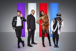 Olly Murs, Jennifer Hudson, Sir Tom Jones and will.i.am. (Joel Anderson/ ITV)