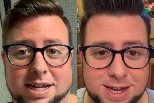 Matt before and after filming