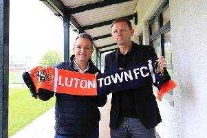 Hatters boss Graeme Jones with chief executive Gary Sweet