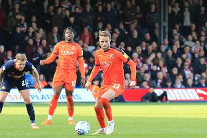 Hatters midfielder Andrew Shinnie