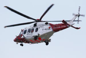 The coastguard helicopter has been called to Bexhill (stock photo)