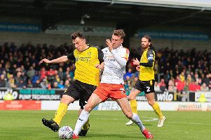 Defender Jack Stacey has left the Hatters