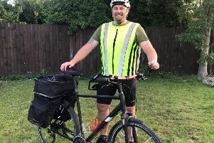 Shane is cycling from Lands End to John O'Groats to raise money for Alice's Arc
