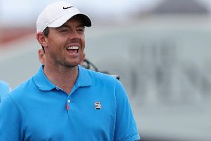 Rory McIlroy taking part in last month's Open Championship