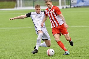 Action from Bexhill United's game at Steyning Town last season. Picture by Stephen Goodger