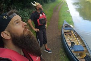 Damian Rees, from Banbury, and Jason Smith, from Leicester, will be rowing down the Oxford Canal dressed as Vikings. They are attending the Oxford Beard Festival and will be raising money for Prostate Cancer UK. NNL-191109-112403001