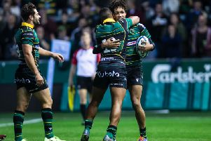 Ryan Olowofela capped an impressive display with a try (pictures: Kirsty Edmonds)