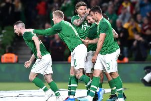 Striker James Collins makes his full debut for Ireland