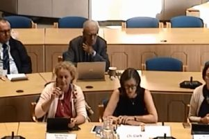 Cllr Susan Clark (front row, centre) addresses the executive committee