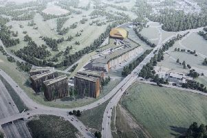 An artists impression of how Luton Town's Newlands Park mixed use scheme could look