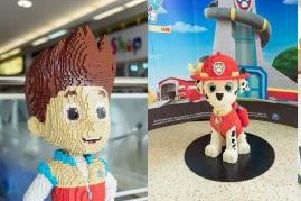 PAW Patrol figures at The Mall Luton