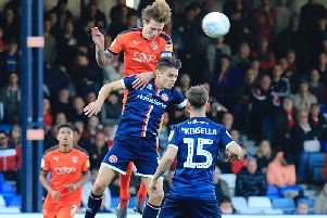Town midfielder Glen Rea in action for the Hatters