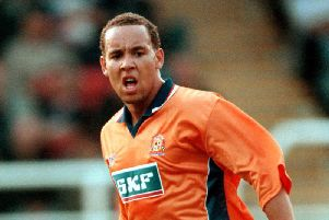 Liam George during his playing days for the Hatters