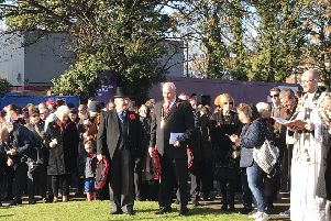 Remembrance Sunday. Credit: Houghton Regis Town Council.