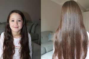 Caitlin will be cutting off 20cm of her hair to donate to the Little Princess Trust