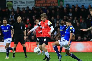 Luke Berry on the ball against Birmingham City