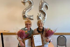 Maureen and Gill are celebrating 25 years with Citizens Advice Dunstable