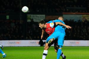 Hatters defender Matty Pearson is a doubt for Saturday