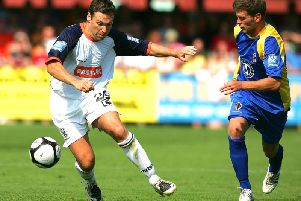 Former Hatters striker Kevin Gallen in action for Luton