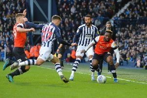 Luton were beaten 2-0 by West Bromwich Albion on Saturday