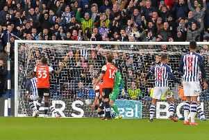 Luton fall 2-0 behind at West Bromwich Albion on Saturday