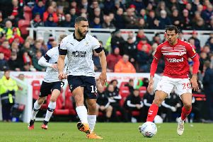 Cameron Carter-Vickers spreads the play against Middlesbrough on Saturday