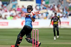 Laurie Evans hits out for Sussex during the successful 2018 Vitality Blast campaign / Picture by Sussex Cricket