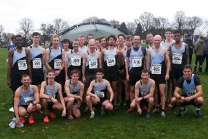 Rugby & Northampton AC's senior men at Abington Park at the weekend