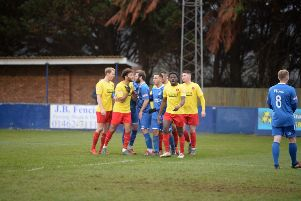 Getting heated: Barton Rovers lost 3-0 to Kempston on Saturday
