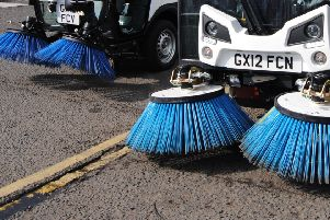 Two Cherwell District Council road sweepers NNL-180614-154144001