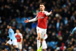 Aaron Ramsey will join Juventus in the summer. Picture: Getty Images