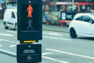 Puffin crossing control panel.