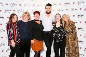 Slimming World Consultants meet singer and presenter Rylan Clark-Neal: Jackie Bacon, Jo Sandalls, Anne-Marie Burke, Becky Smeath, Emma Kellond SUS-191202-095912001