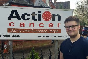 Action Cancer Ambassador Andrew Gamble.