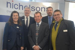 Speakers, from left, Catherine Harris, Richard Grayson  Nick Sharp, Elton Moulds and  Phil Gibson EMN-190218-082617001
