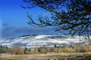 Truleigh Hill, a high point on the South Downs, in the snow. Picture: Steve Cobb 13110767x