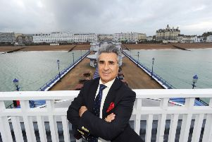 Abid Gulzar the owner of Eastbourne Pier (Pic by Jon Rigby)