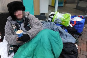 Homeless in Eastbourne (Photo by Jon Rigby) SUS-170126-094058008