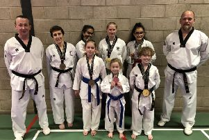Some of the Boston Taekwondo Club competitors.