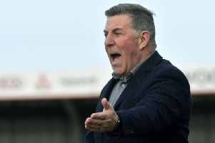 Mark McGhee on the sidelines against Chelmsford on Saturday. Picture by Jon Rigby