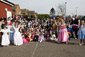 The Viking School, Skegness, during Red Nose Day 2009.