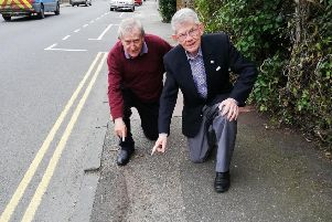 Colin Swansborough and Pat Rodohan, Eastbourne Lib Dem councillors are calling for more money to be spent fixing the town's pavements