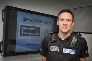 Rob Adams, who is running Operation Encompass. Pictured at Hastings Police Station.