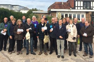 Conservative campaigners in Wealden SUS-190415-112400001