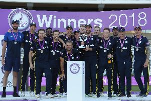 Hampshire lift the Royal London One-Day Cup. Picture by Christopher Lee/Getty Images