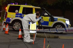 Police on scene in Larkspur Drive, Eastbourne. Photo by Dan Jessup SUS-190421-091755001