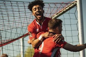 Eastbourne Borough celebrate at Slough