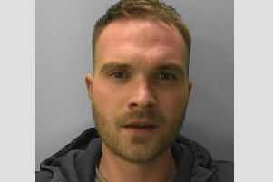 Richard Watsham, 29, was involved in a string of convenience store robberies where staff were threatened with a knife, Taser and claw hammer. Picture: Sussex Police