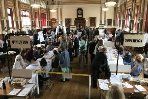 Eastbourne election count 2019.'Photo by Jon Rigby SUS-190305-122127001