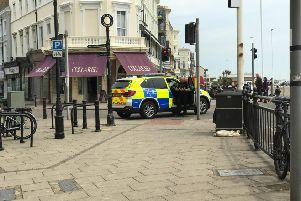 Police have closed off access to Robertson Street